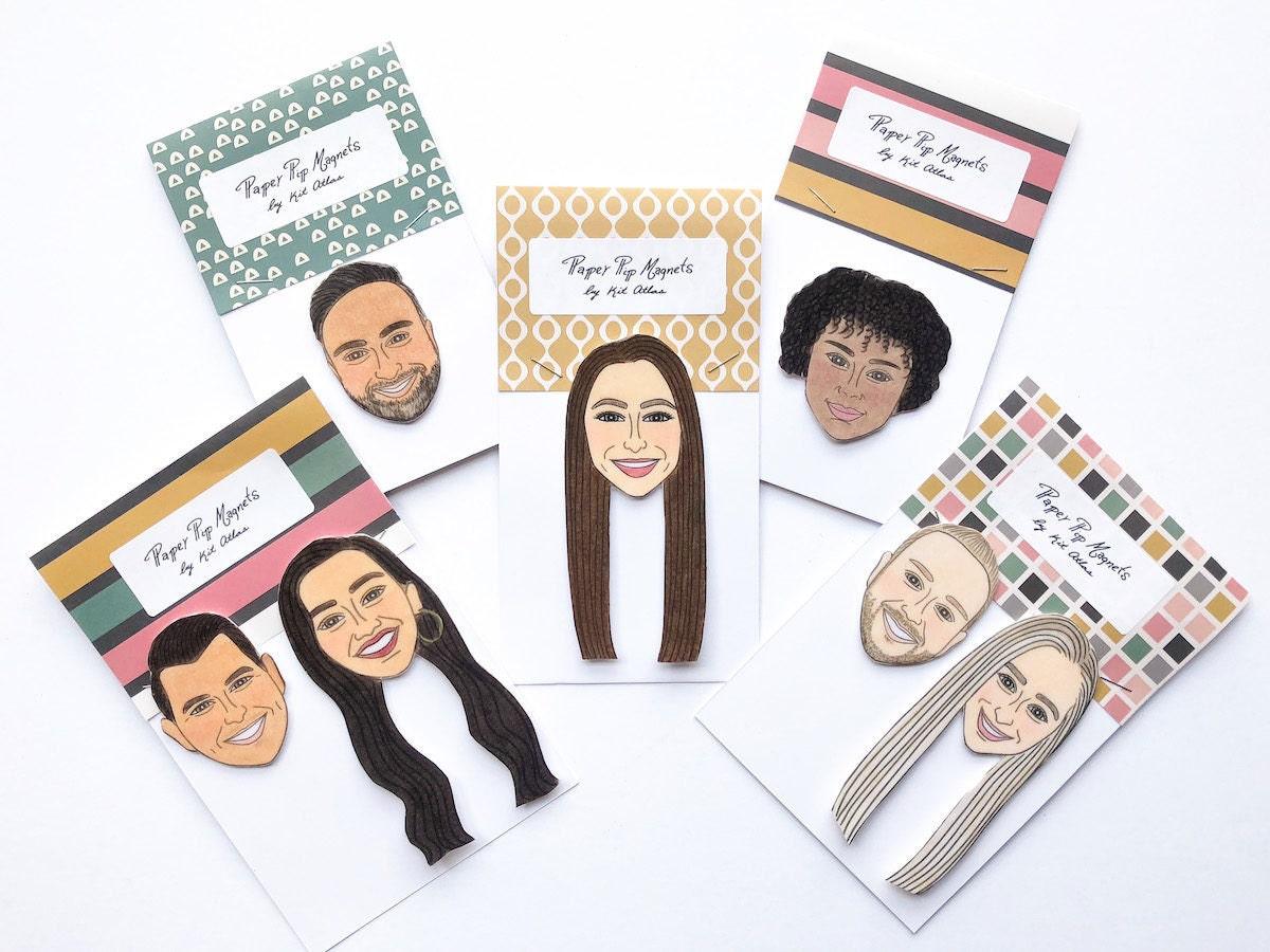 Custom portrait magnets from Kit Atlas