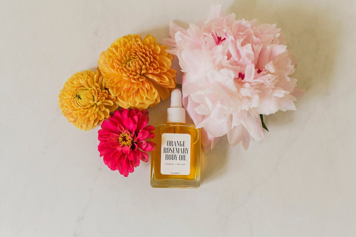 Body oil from the A Beautiful Mess x Etsy collection