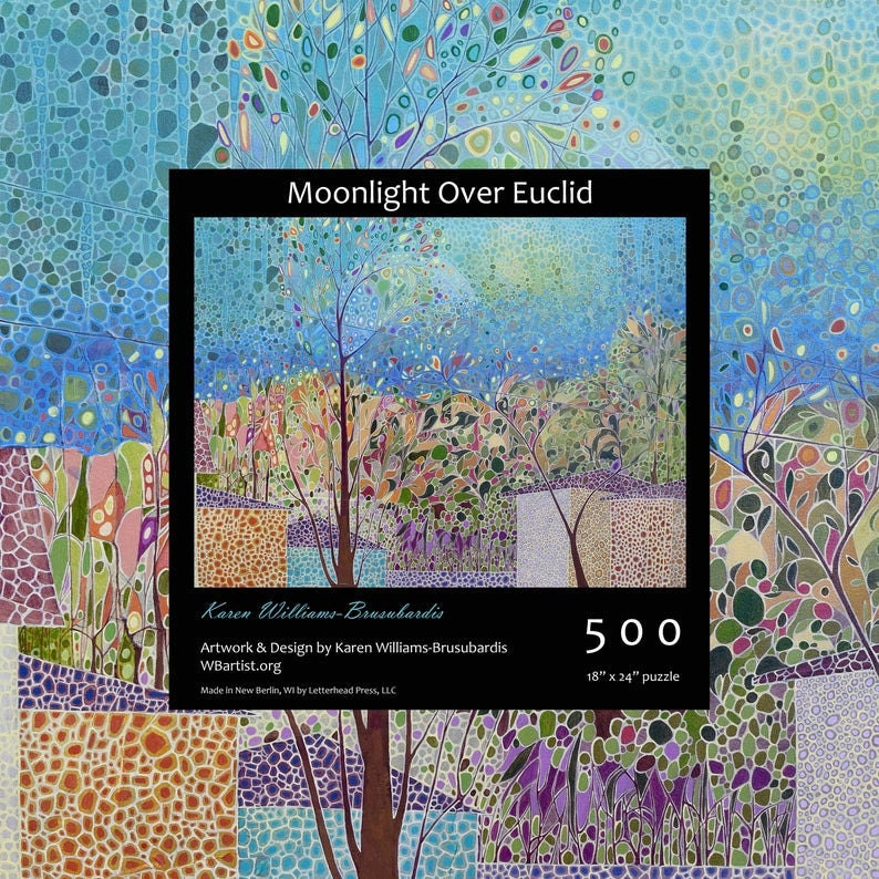 A 500-piece impressionist painting puzzle from Karen WB Artist