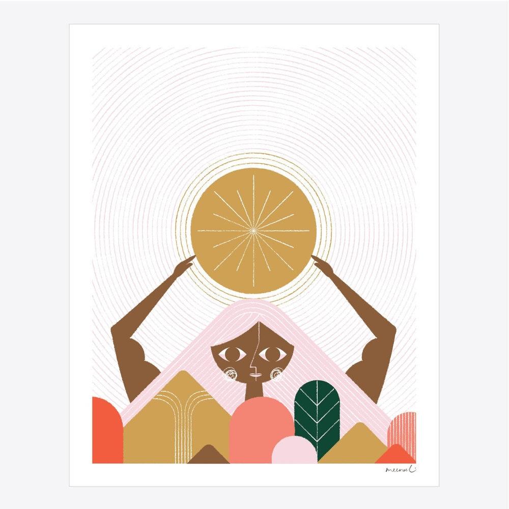 Mother Mountain art print from Meenal Patel Studio