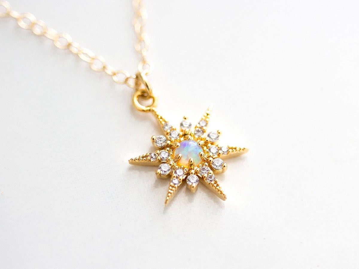 Opal star necklace from Borcik