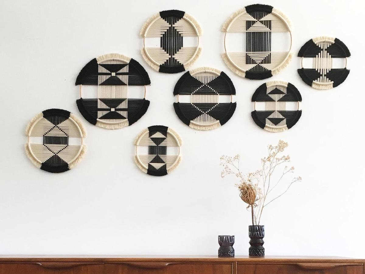 woven wall art from Etsy