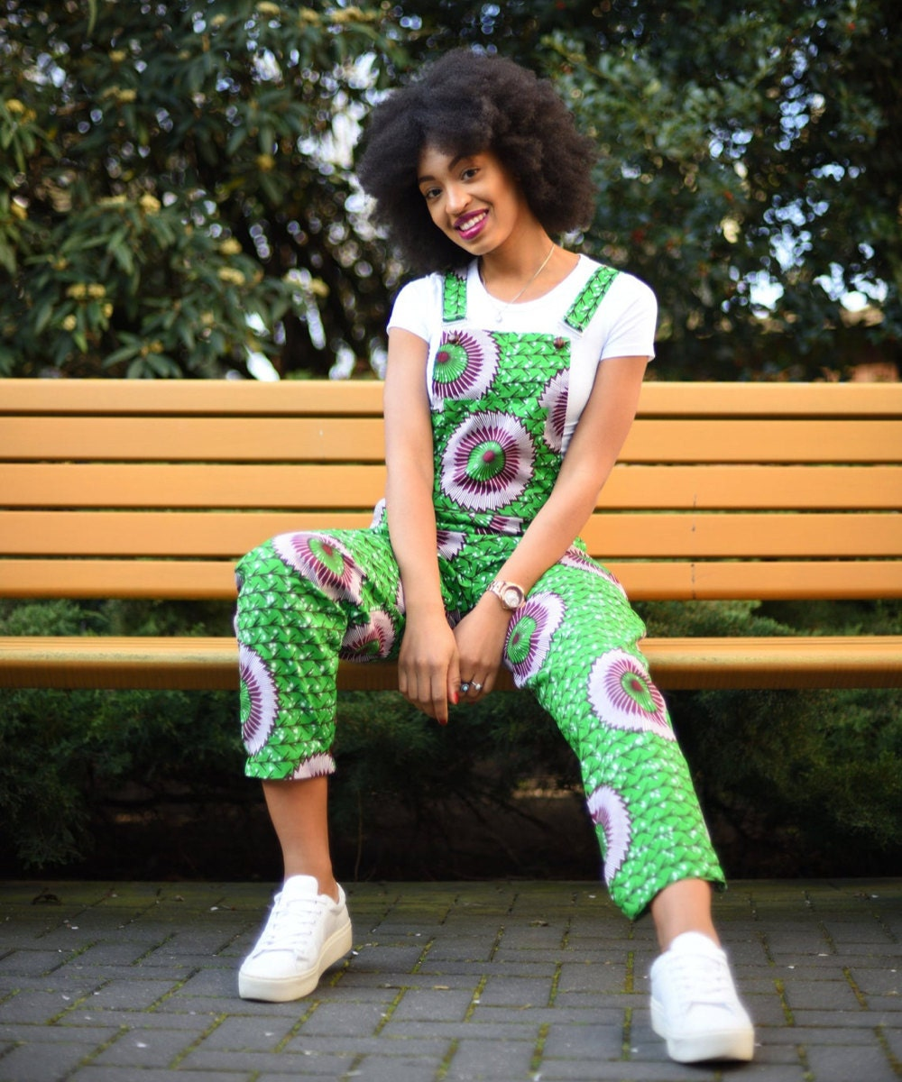 Colorful patterned overalls from Nevice