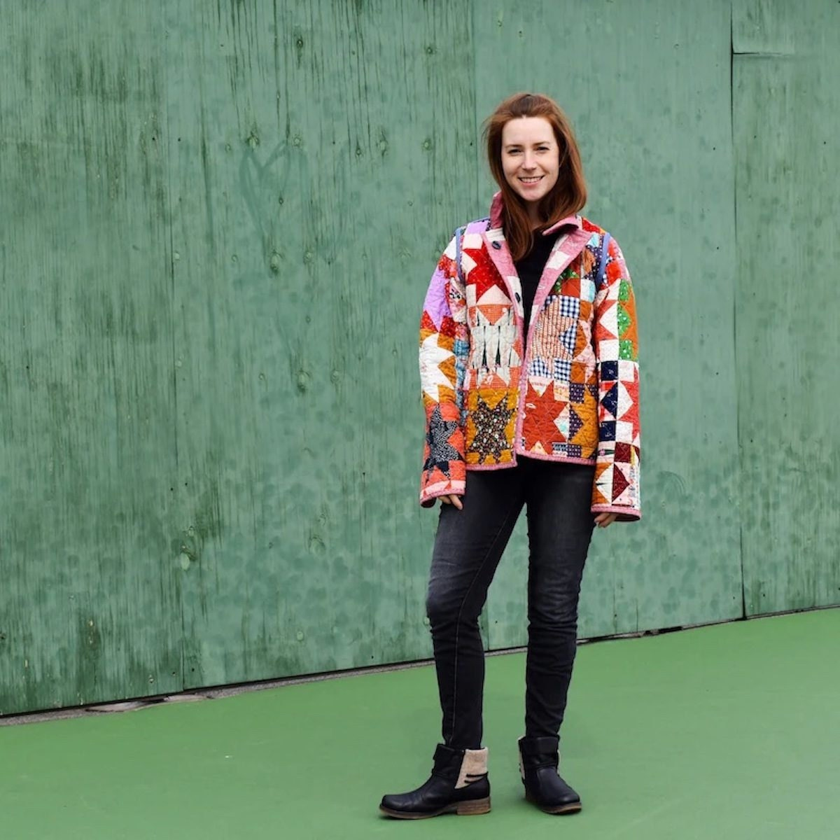 A patchwork chore coat pattern from Etsy.