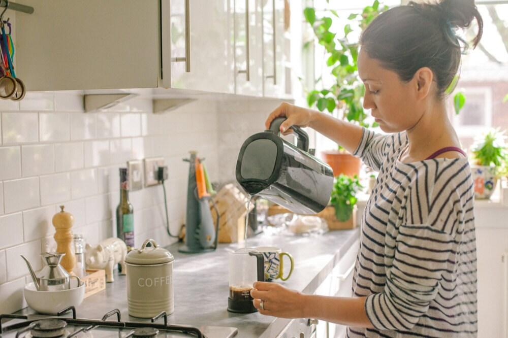 Ingrid in her kitchen