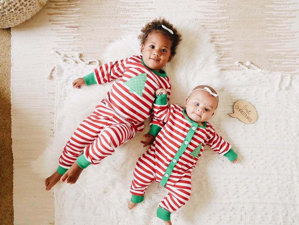 Matching pajamas for kids from Sugar Bee Clothing on Etsy