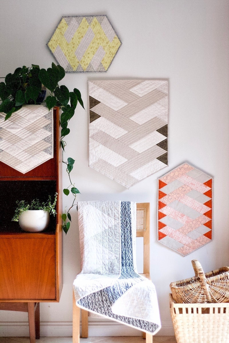A quilted wall hanging pattern from Etsy