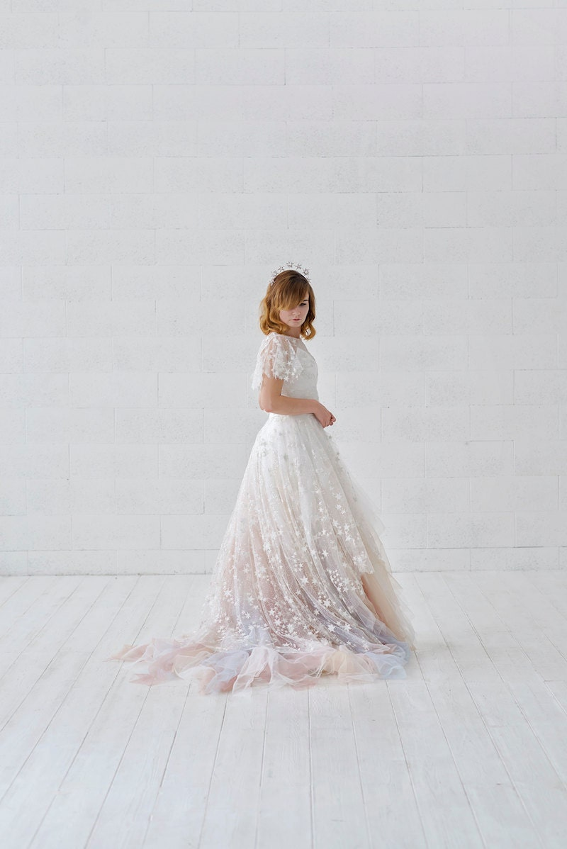 Celeste bridal overskirt with stars from Wardrobe by Dulcinea