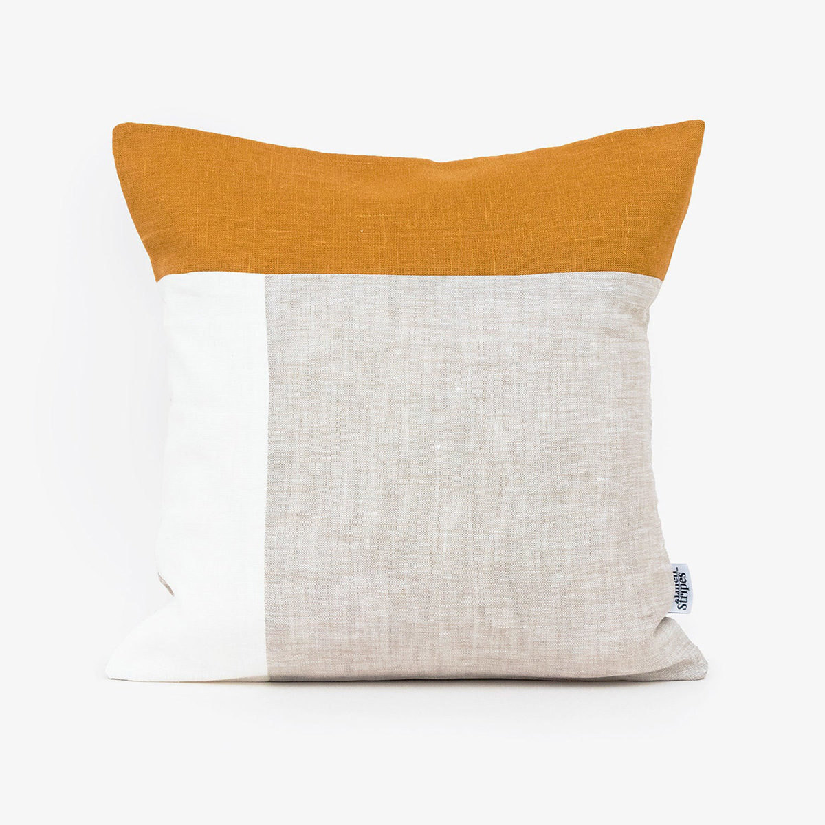 Colorblocked pillow from Etsy