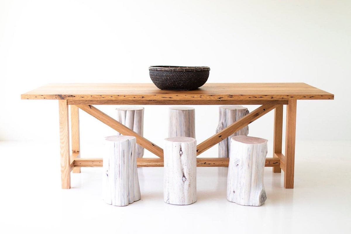 Modern farmhouse dining table from Bertu Home