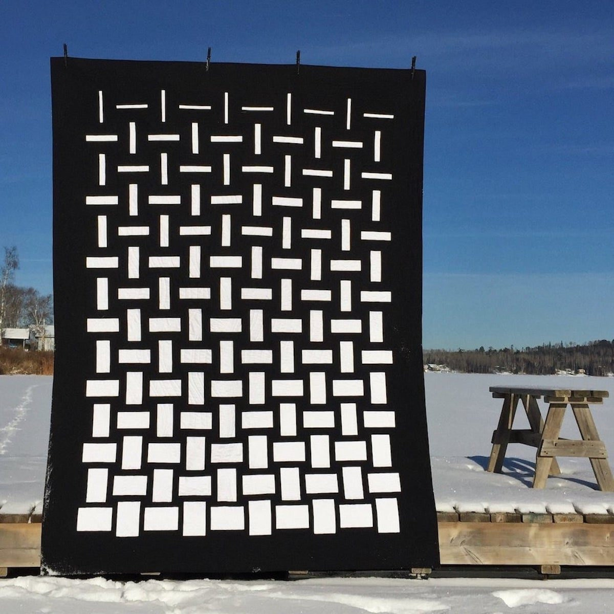 Abstract quilt pattern from Etsy