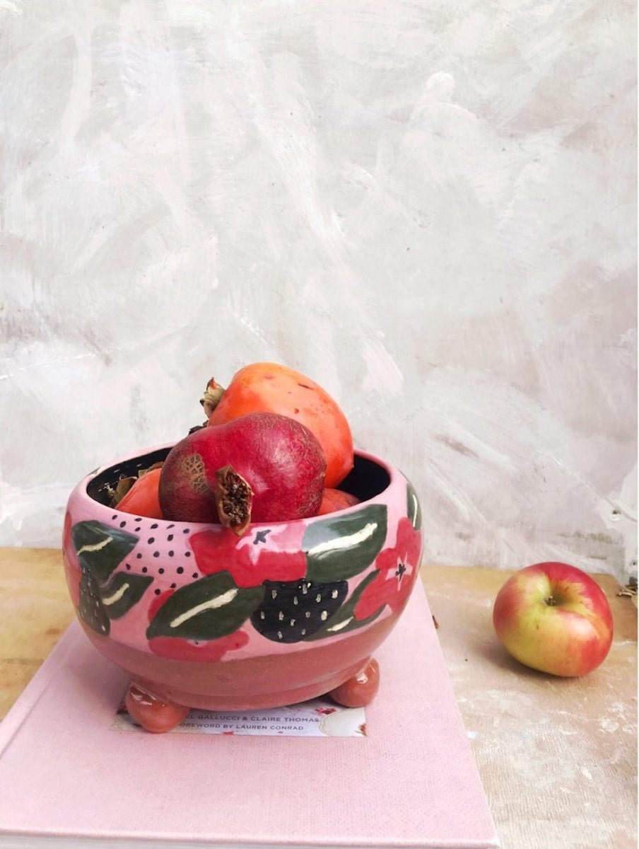 Footed fruit bowl from VEQ Ceramics