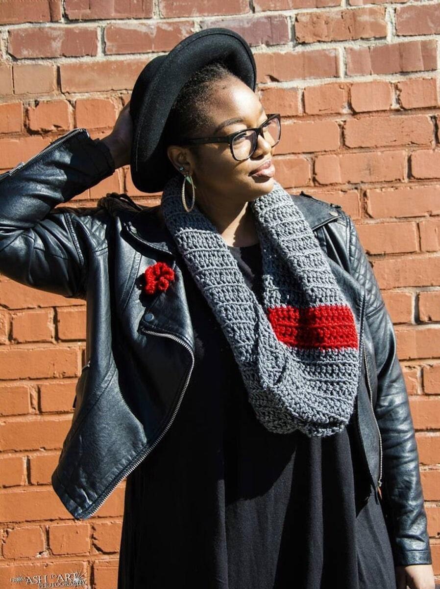 Custom crochet infinity scarf by FAMEousJ, on Etsy