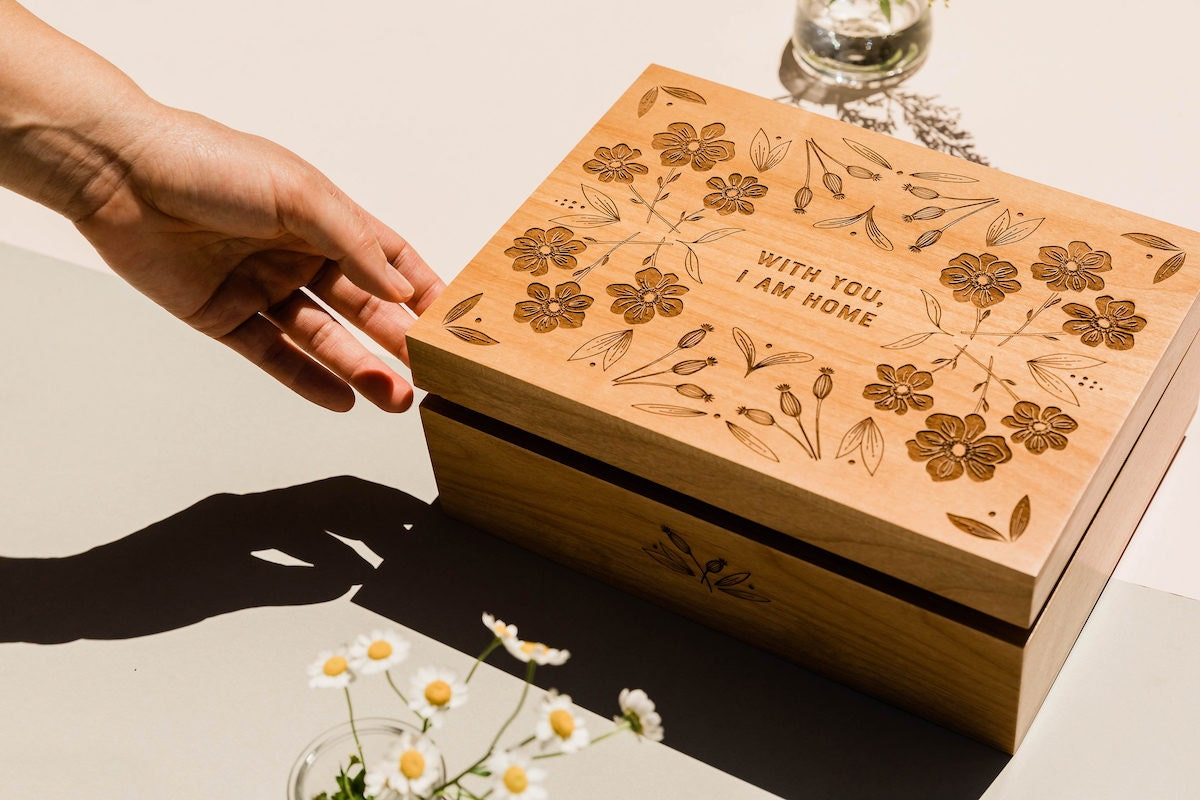 Wooden keepsake box from Hereafter