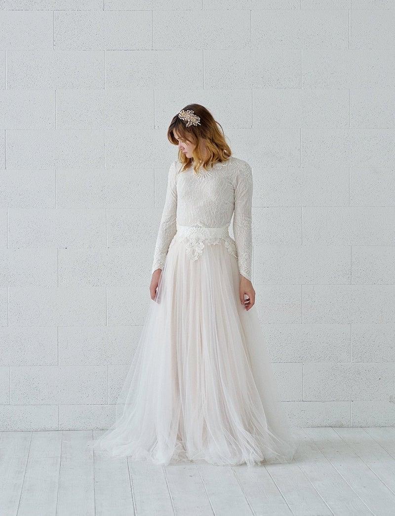 Kyra long-sleeved wedding dress from Wardrobe by Dulcinea