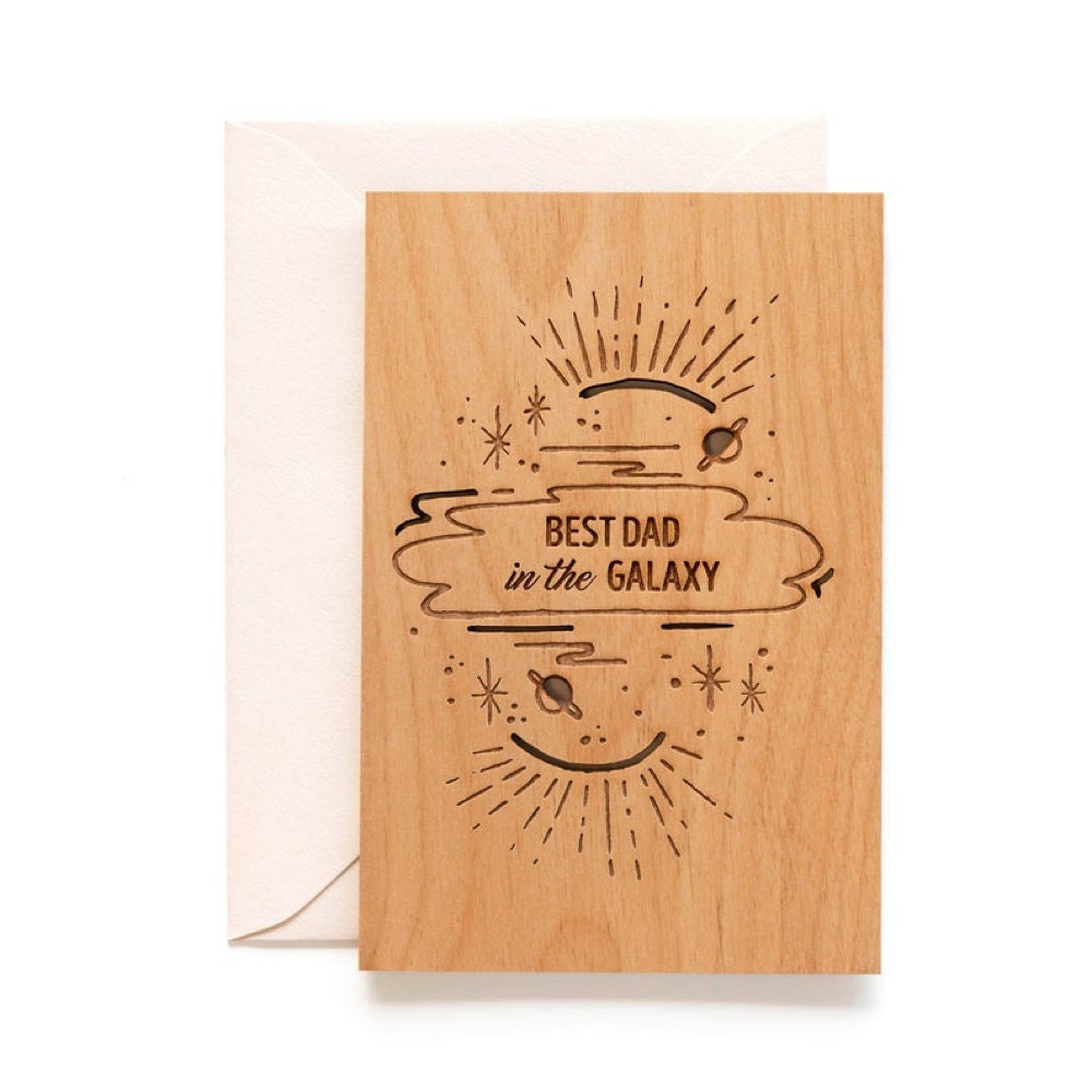 """A """"Best Dad"""" keepsake card from Hereafter"""