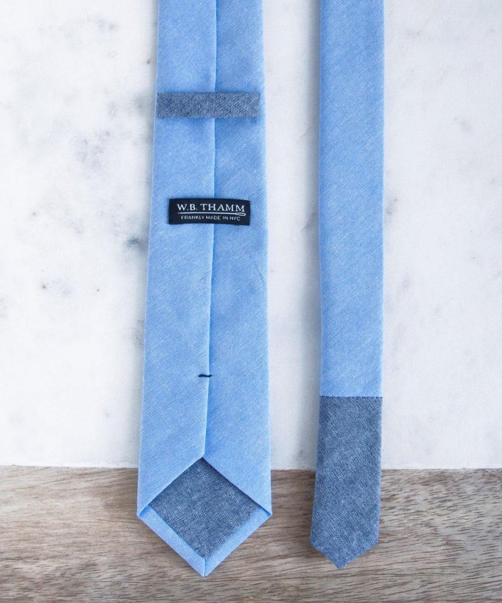 Skinny necktie groomsman gift from WBTHAMM, on Etsy