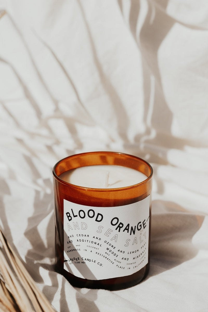 Blood Orange + Sea Salt candle from Apogee Candle Co., on Etsy