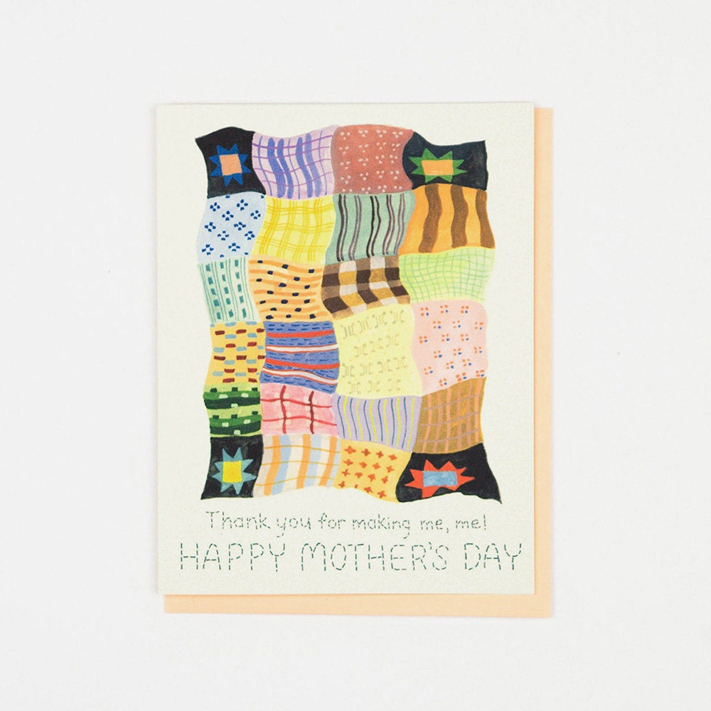 A unique Mother's Day card for a mom who quilts