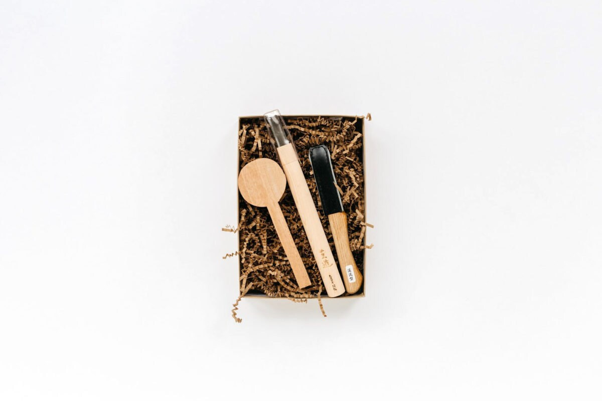 A wood spoon-carving kit
