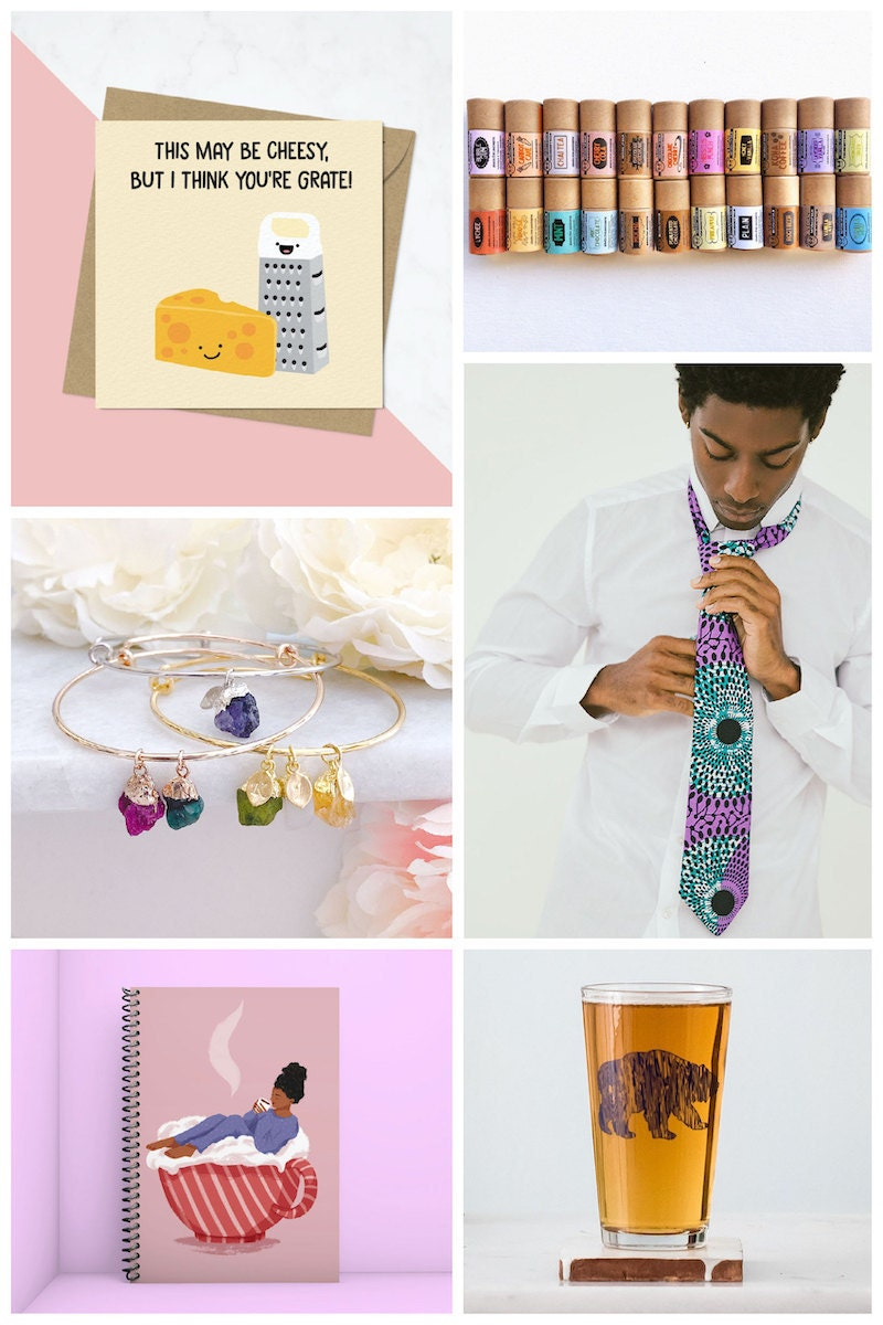 Gift card options from Etsy