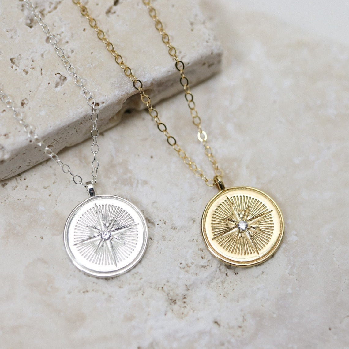 North Star coin necklaces from EVREN