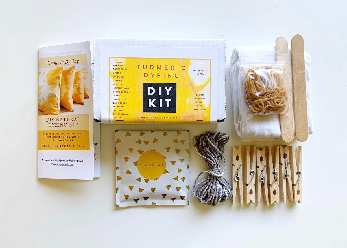 DIY turmeric dyeing kit from Etsy