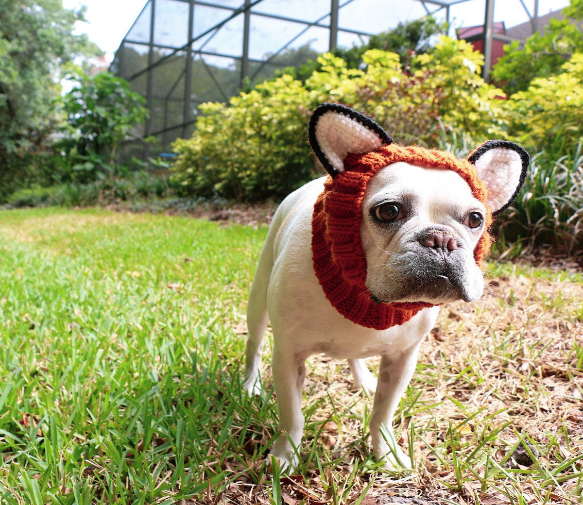 Knit fox snood from Zoo Snoods