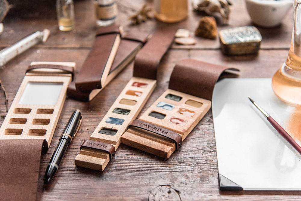 Painter palettes from Peg and Awl