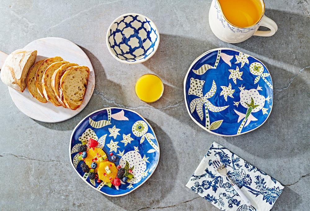Ceramic plates and bowls from Ceramica Botanica