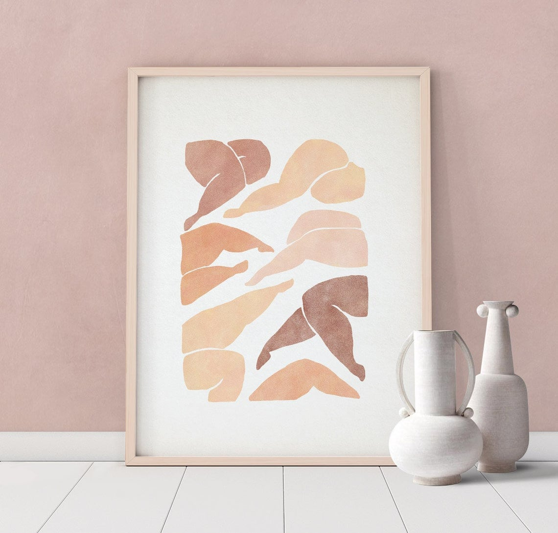 Downloadable woman figure print from forn Studio