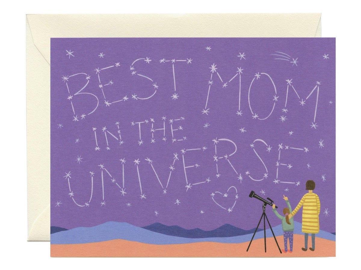 Stargazing Mother's Day card
