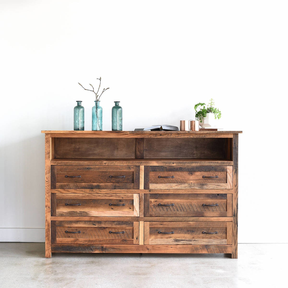 Reclaimed wood dresser from What WE Make
