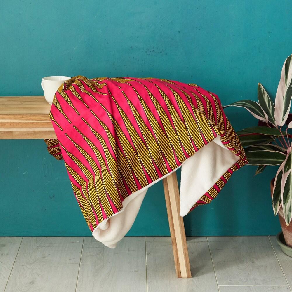 Pink zigzag throw blanket from Bespoke Binny