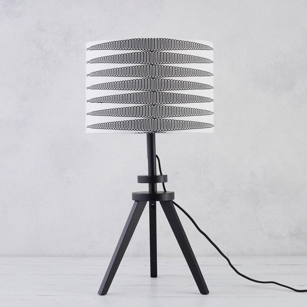 Black and white zigzag lampshade from Bespoke Binny