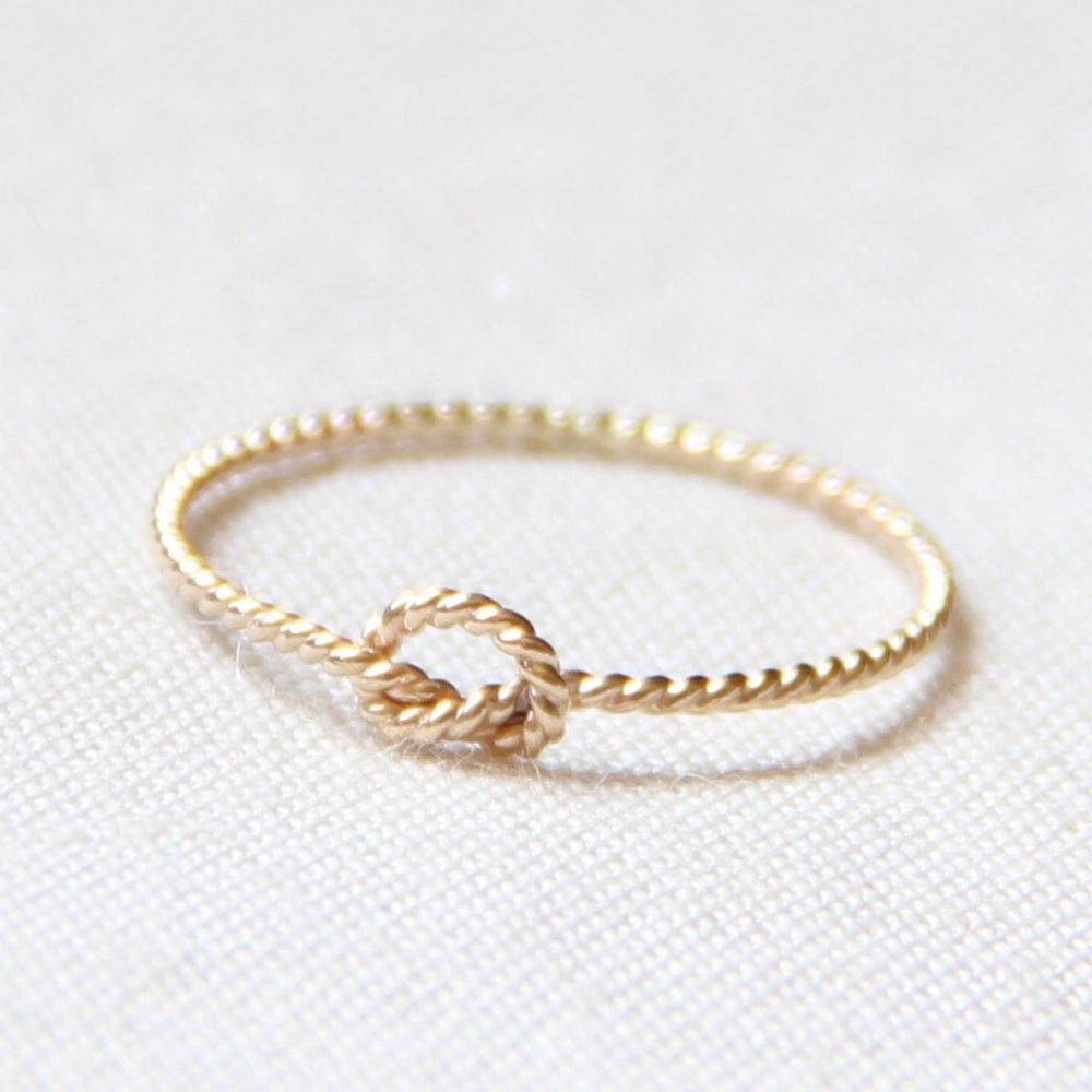Gold rope knot ring from Mary John Fine Jewelry