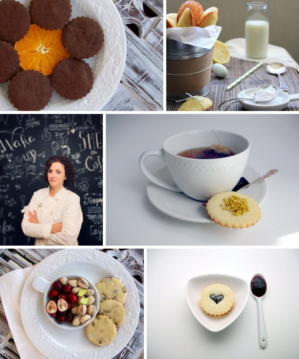 A collage of baked goods from Xocolatl Chocolate on Etsy.