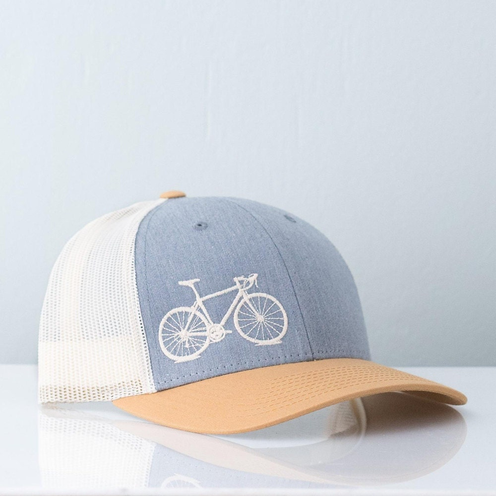 An embroidered bike trucker hat from Vital Industries