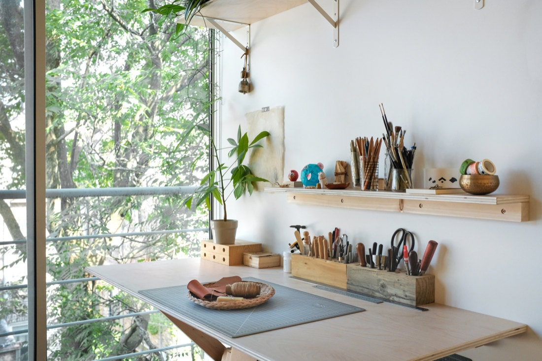 Quynh's sunny home studio space