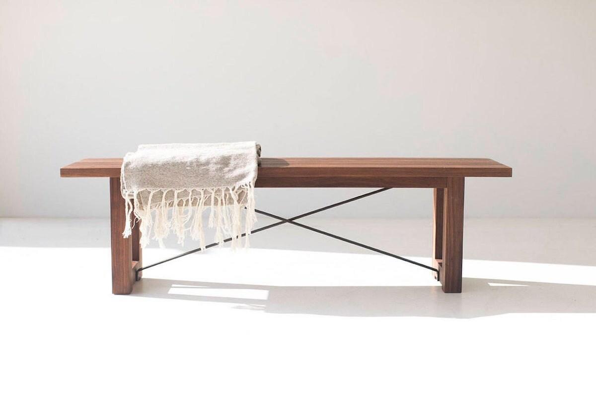 Industrial modern bench from Bertu Home