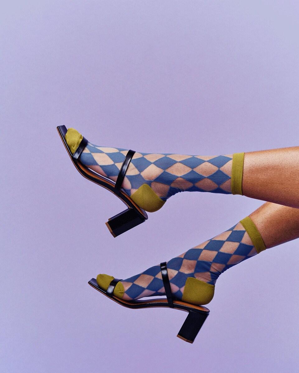 Argyle socks from Sock Season, on Etsy