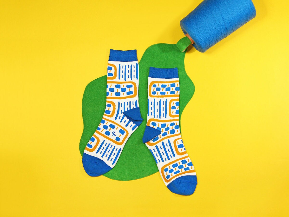 Vibrant colorful socks from Yu Square