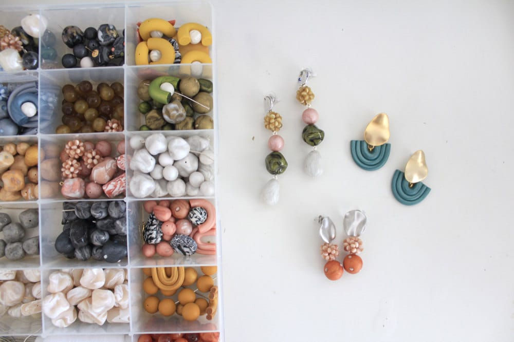 Jessica's drawer of neatly organized clay beads.