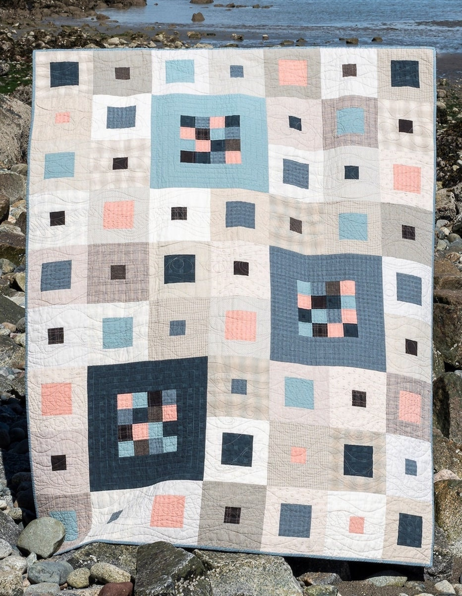 A textured quilt kit from Etsy