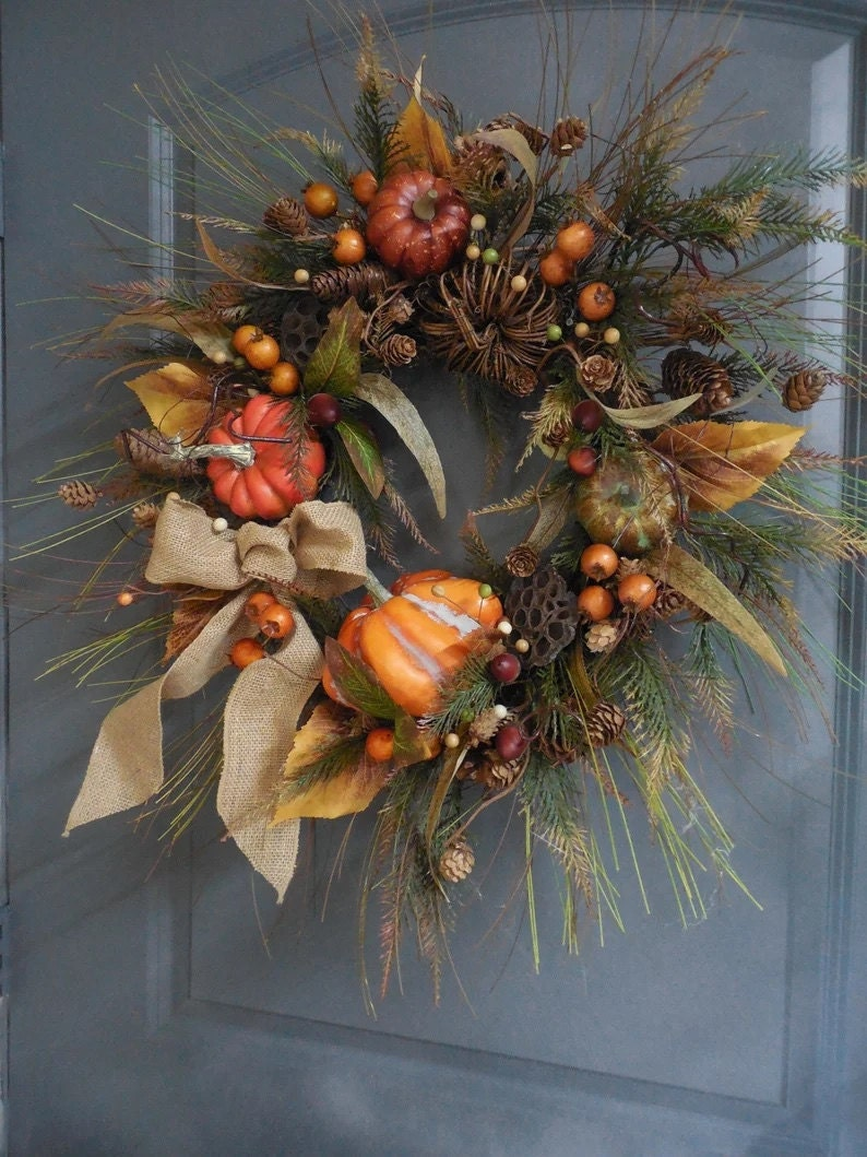 Fall wreath from Forevermore on Etsy