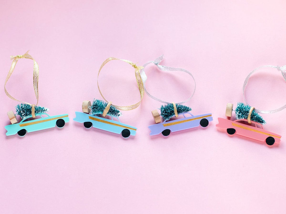Christmas tree car ornaments from Finest Imaginary