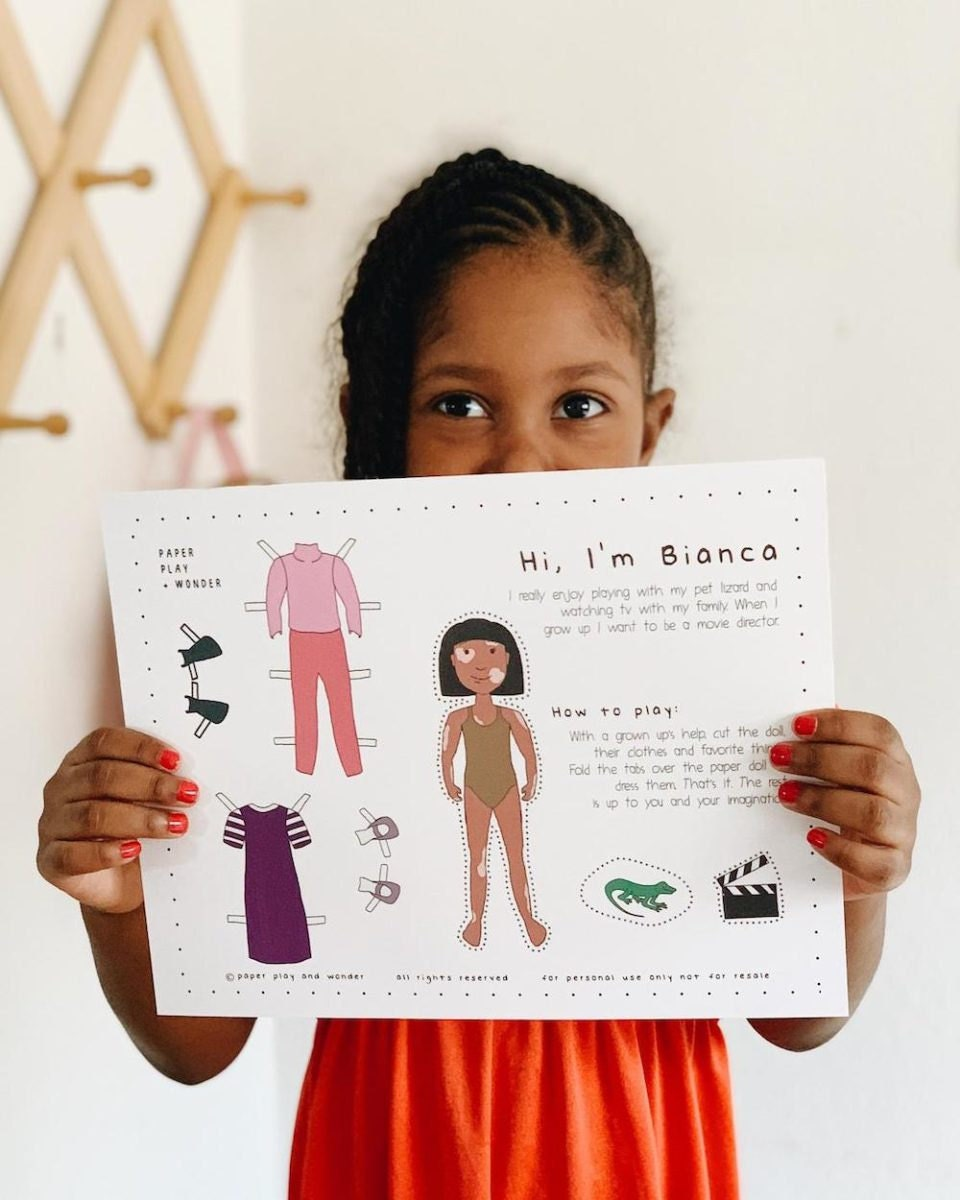 Downloadable paper doll from Paper Play + Wonder