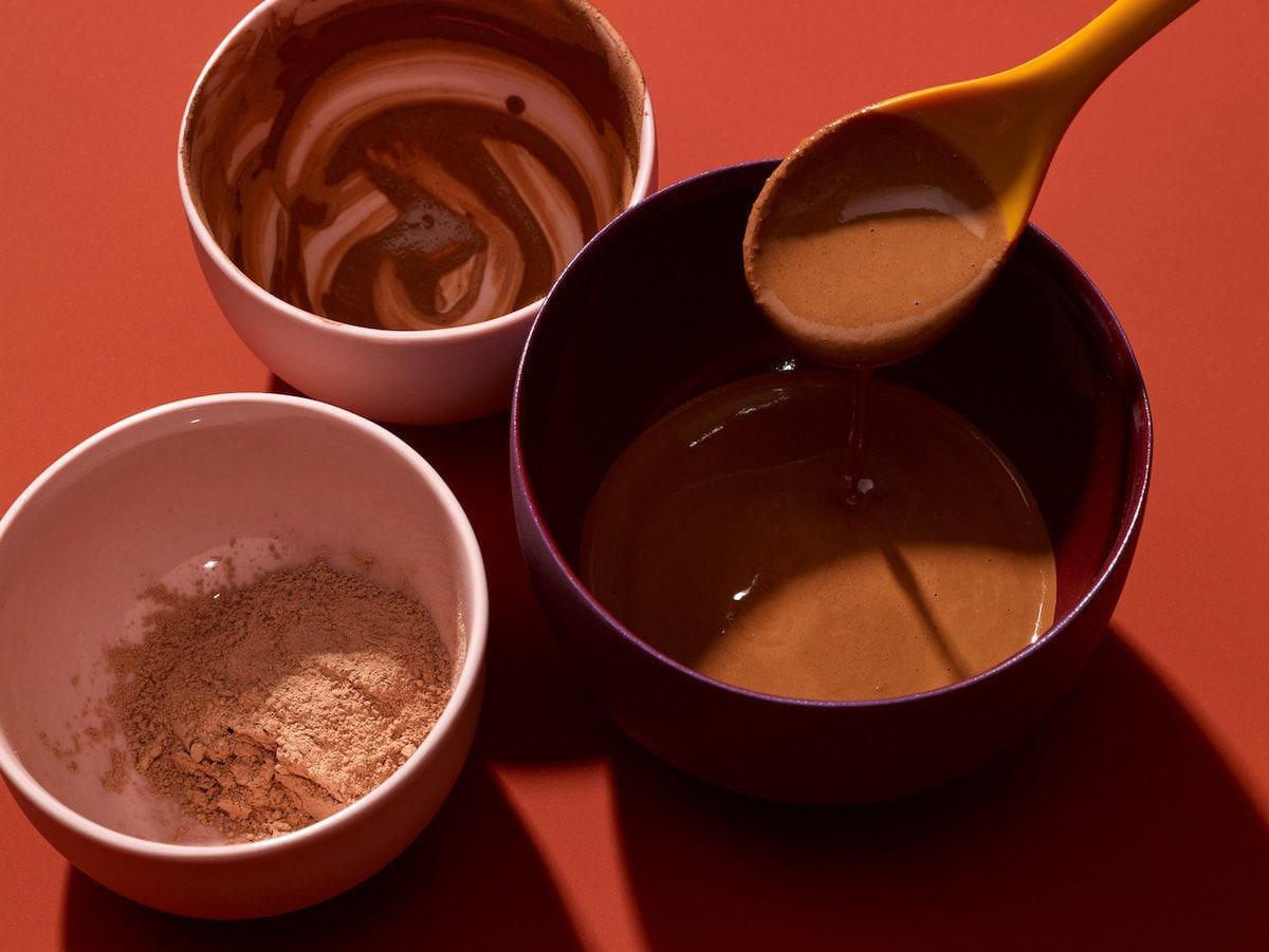 Natural ingredients on display in various bowls
