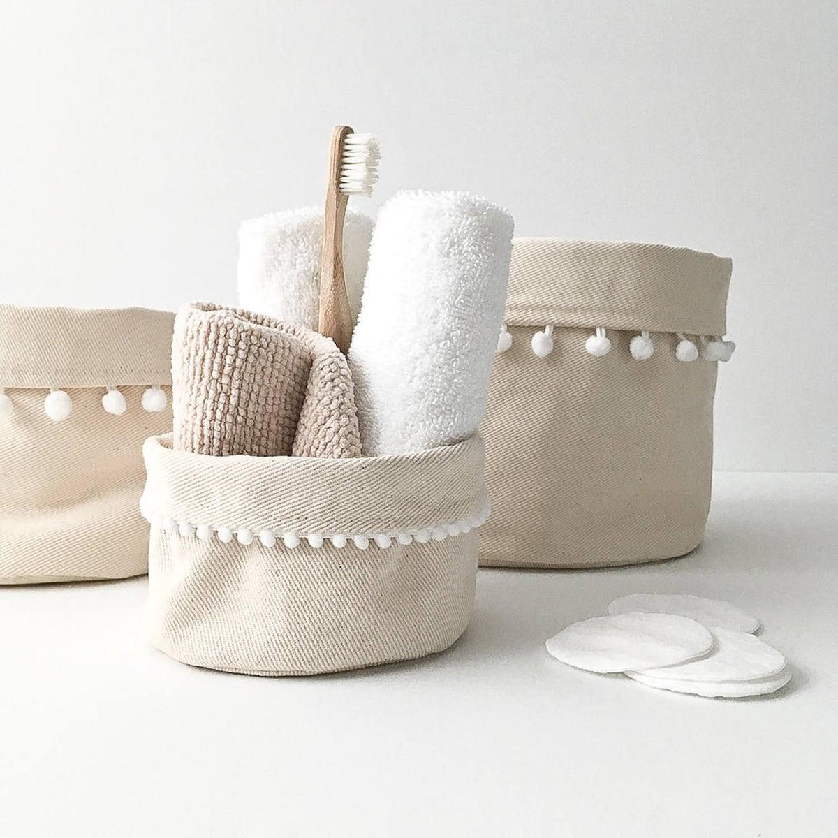 Storage baskets from Etsy
