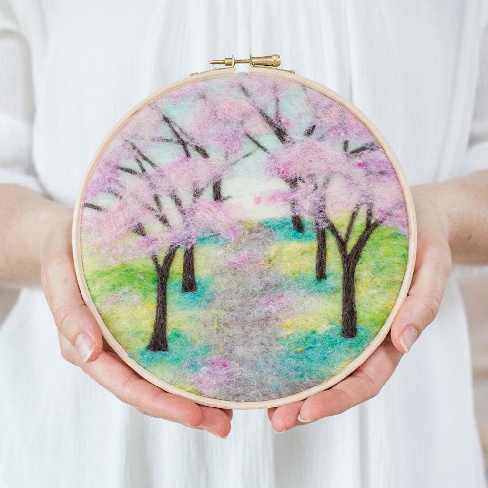 Cherry blossom needle felting kit from Felted Sky